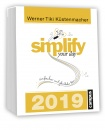 simplify your day, Tages-Abreißkalender